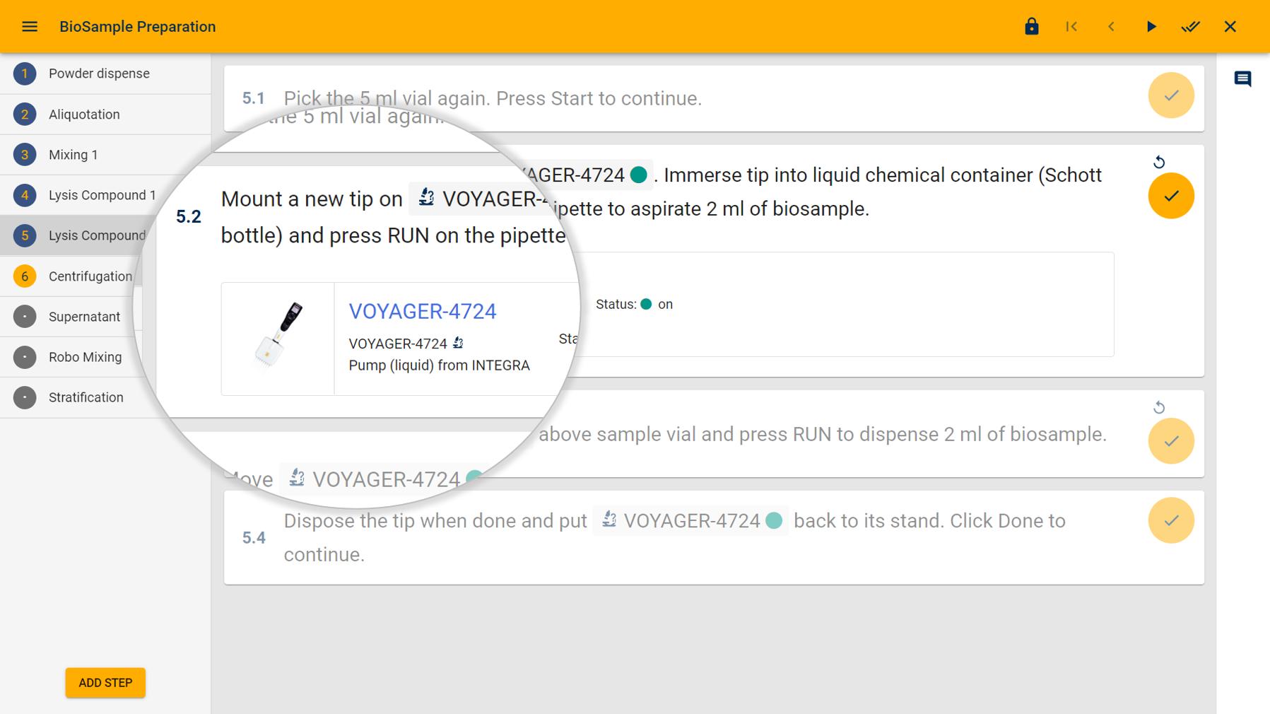 Laboperator Screenshot Workflow Steps